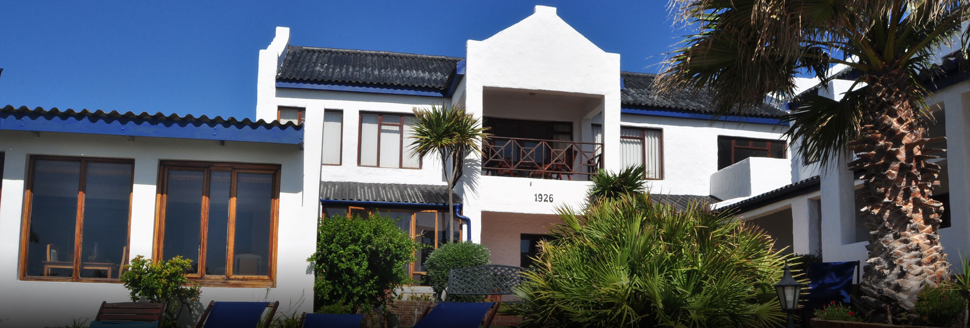 Saxon Lodge viewed from Gansbaai harbour